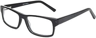 SmartBuy Collection Mackenzie - Unisex Prescription Eyeglass Frames - Full Rim Rectangular Designer Glasses Frame