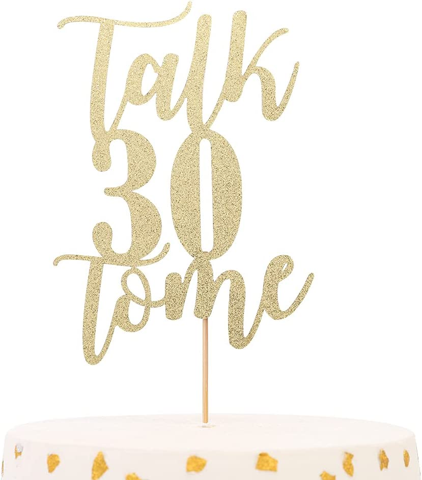 Talk 30 to Me Cake Topper - Selling Bir Decorations Golden Ranking TOP11 Glitter