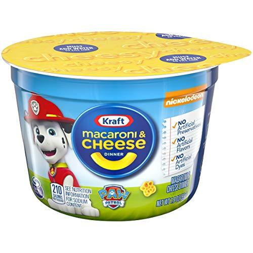 Kraft Easy Mac & Cheese Paw Patrol Shapes Dinner (1.9 oz Cups, Pack of 10)