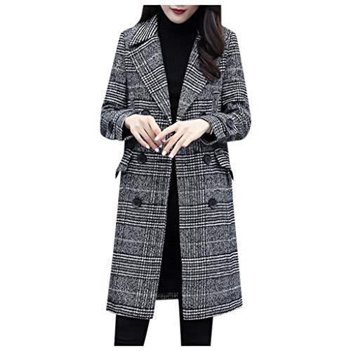 ours blazers for women Fashion Women Plaid Blazer Coat Retro Stripe Print Button Shoulder Pads Suit Coats Sunmoot