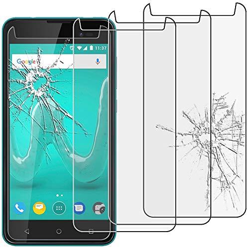 ebestStar - kompatibel mit Wiko Sunny 2 Plus Panzerglas x3 Schutzfolie Glas, Schutzglas Bildschirmschutz, Bildschirmschutzfolie 9H gehärtes Glas [Phone: 146.3 x 73.7 x 9.8mm, 5.0'']