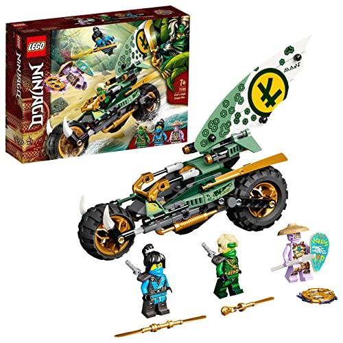 LEGO NINJAGO Moto della Giungla di Lloyd, Costruzioni per Bambini con Motocicletta Giocattolo e Minifigure di Lloyd e Nya, 71745