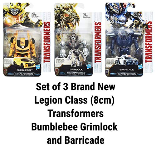 COMICTOYZ Set of 3 Transformers Legion Class (8cm) Bumblebee Grimlock and Barricade