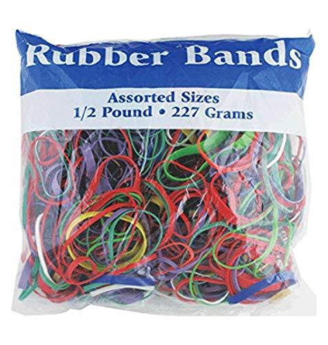Bandas elásticas colores surtidos Bazic. Bandas elásticas de 0.5lb (465-48P), Multiple