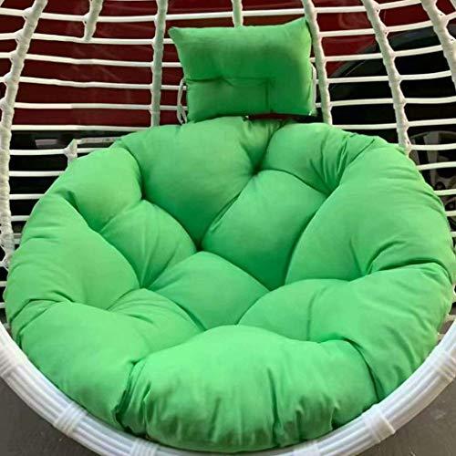 Hamaca oscilación del amortiguador de asiento, colgantes Cojín silla de la cesta con la almohadilla, Rattan oscilación colgante silla de ratón y la cubierta, Tamaño: 110x110cm (Color: Color-2) (sin si