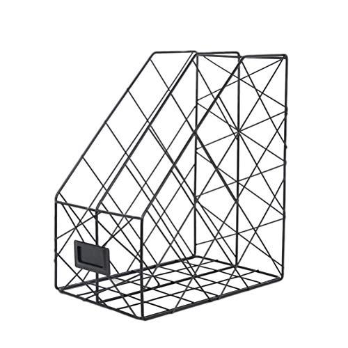TOYANDONA Ordner Papier Ordnerhalter vertikal Magazin Buch Organizer Desktop Dokumentenablage Stand Sorter (schwarz)