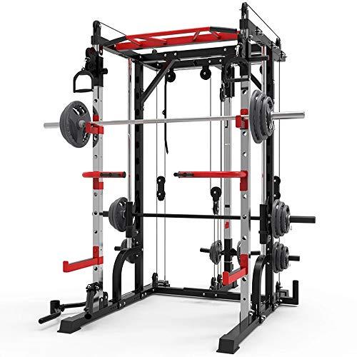 Yarmy Profession Squat Rack Gewichtheben Cage Squat Rack Multifunktionsrahmen Haushaltsbankständer Langhantelständer für Gewichtheben, Krafttraining, Klimmzug, Fitness Umfassendes Training