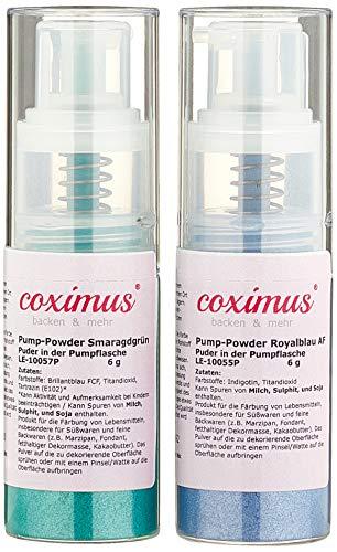 coximus Pump-Powder 2er SET4 Royalblau und smaragdgrün, 50 g