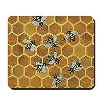 CafePress–Honey Beesマウスパッド–ノンスリップゴムマウスパッド、ゲームマウスパッド