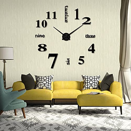 Relojes de pared 3D, DIY moderno reloj de pared de acrílico reloj...
