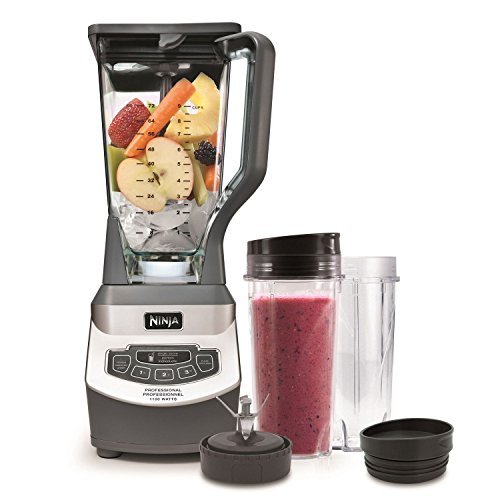 SharkNinja BL660C Professional Blender & Nutri Cups, Silver/Grey