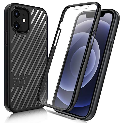 "FYY [Resist Harmful Organism] Case for iPhone 12 Mini 5G 5.4"", [Built-in Screen Protector] Heavy Duty Protection Full Body Protective Bumper Case Cover for Apple iPhone 12 Mini 5G 5.4"" Black"