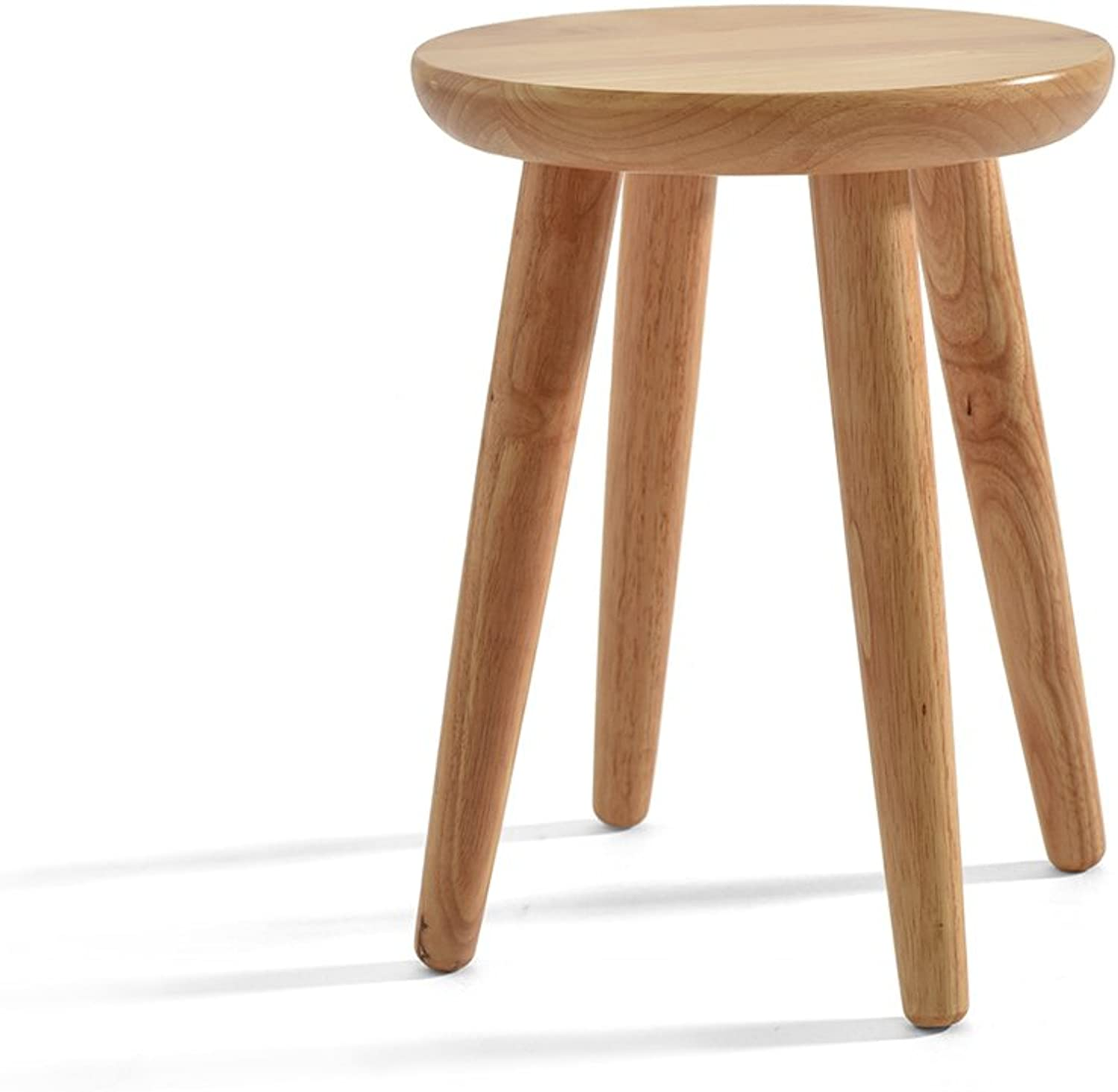 Footstool Solid Wood Stool Small Stool Table Stool Fashion Dining Stool Home Low Stool Dressing Stool Household Low Pouffe Sofa Stool for Kids with Wooden Leg (color   Large)