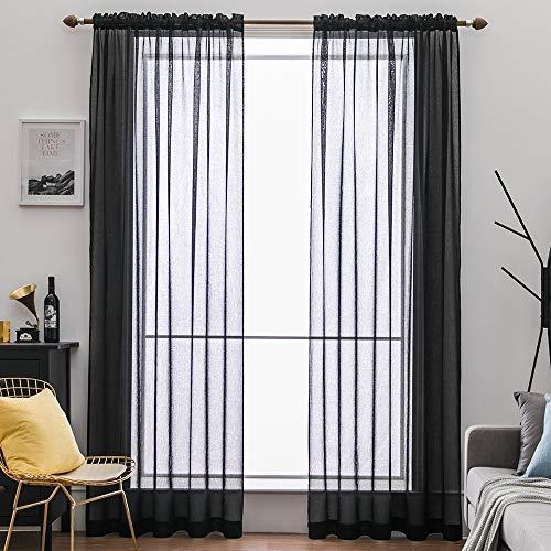 cortinas translucidas negras