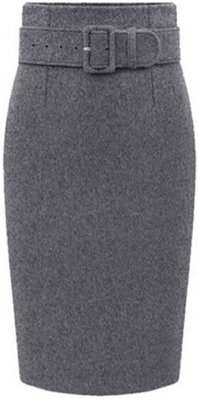 FSDFASS Skirt Fashion Autumn Winter Style Cotton Plus Size High Waist Casual Pencil Skirt Women Skirts