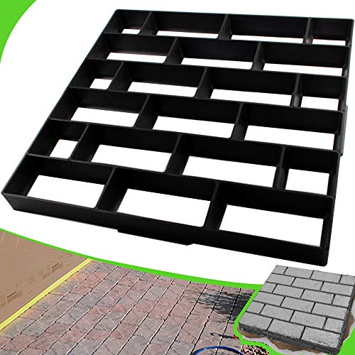 CJGQ Plus Size 19.7'x19.7'x1.7' Concrete Molds Walk Maker Reusable Path Brickform Stepping Stone Paver Lawn Patio Yard Garden DIY Walkway Pavement Moulds (Cross Bricks)