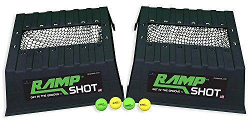 RampShot Game Set- Great for Families, Yard, Beach, Tailgate, Camping - Includes 2 Ramps, 4 Balls, 2 Stickers, 2 Nets, and Instructions