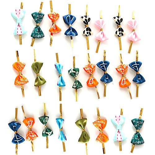 Yyuezhi Twistband metaaldraad twist stropdas voor geschenkverpakking metalen binders metalen kabelbinder tassen loller en taart pops party Favor tassen decoraties gemengde kleur (50 stuks