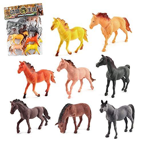 Pelze 1281 8 in 1 Nette Pferde Dekoration Spielzeug-Set QiuGe