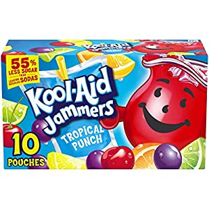 Kool-Aid Jammers Tropical Punch Soft Drink, 10 Pouches |