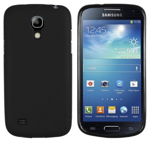 mumbi Hülle kompatibel mit Samsung Galaxy S4 mini Handy Case Handyhülle, schwarz