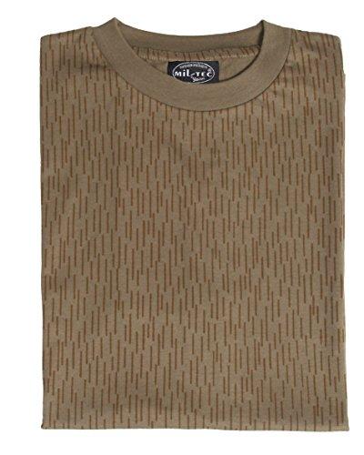 Mil-Tec Herren NVA Strichtarn T-Shirt, Braun (Strichtarn), XL