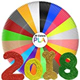 3D Pen Filament Refills(20 Colors,10 Feet Each) Total 200 Feet,PLA Filament 1.75mm,PLA 3D Printing Pen Filament 3D Pen For Kids,No Stuck, Non-toxic and Odorless,Not Fit for 3Doodler Pen