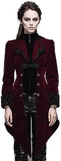 Devil Fashion Steampunk Swallow Tail Coat Gothic Women's Long Winter Jacket