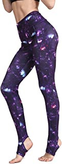 Whitewed Print Stirrup Athletic Yoga Workout Active Gym Leggings Pants for Women