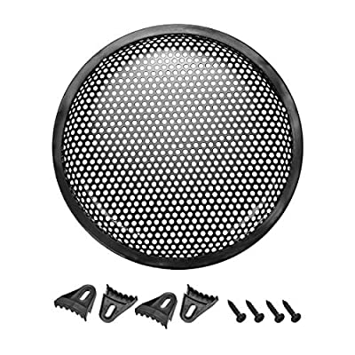 """sourcing map 8"""" Speaker Waffle Grill Metal Mesh Audio Subwoofer Guard Protector Cover with Clips,Screws from Sourcing Map"""