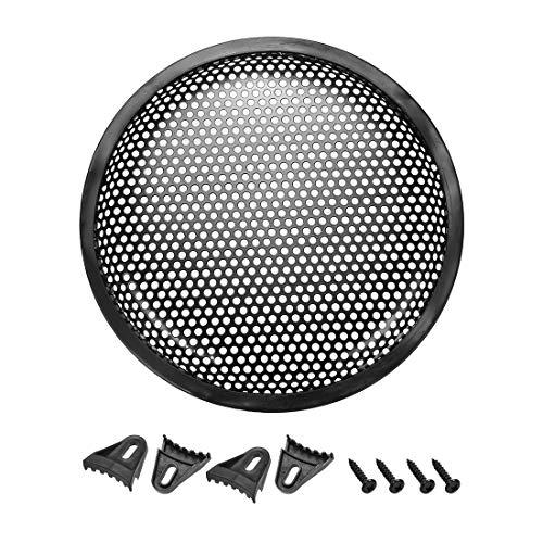 Sourcingmap - Rejilla para altavoz de 8 pulgadas, malla de metal, con clips, tornillos