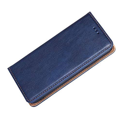 FANFO® Hülle für LG K42 HandyHülle, Premium Folio PU/TPU Leder Tasche Magnetverschlüsse Schutzhülle Flip Wallet Klapphülle Book Style Hülle Cover, Blau