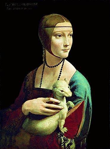 Migneco & Smith Der ILLUSTREE Leonardo da Vinci DAMA mit Ermellino Kunstdruck in Offset auf Papier 300 x 60 x 80 cm, ohne Rahmen