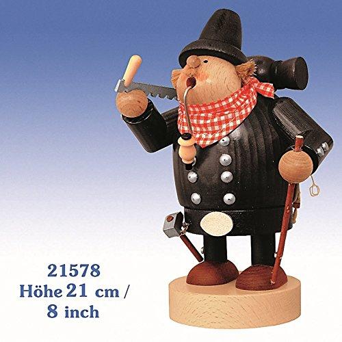 Räucherfigur Zimmermann 21 cm NEU Rauchfigur Räuchermännel Räuchermann Erzgebirge