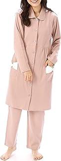 NISHIKI[ニシキ] マタニティ パジャマ 授乳口付き 長袖 綿100% スムース 肌に優しい 前開き ロング丈 ウエスト調整付きパンツ 授乳服 ルームウェア 部屋着