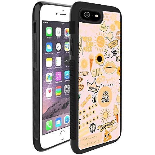 iPhone 6/6S Protective Case Cover, Queen Pizza No Bad Pattern Hard PC and Soft TPU Tire Pattern Anti-Skid Shockproof Full Coverage Protection