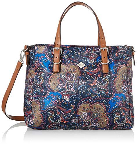 Oilily Damen Picnic Handbag Mhz Henkeltasche, Blau (Nightblue), 15x27x32.5 cm
