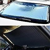 Car Sunshade, Retractable Car Curtain Sunscreen Heat Insulation Sunshade Car Front Windshield Sunshade For Children