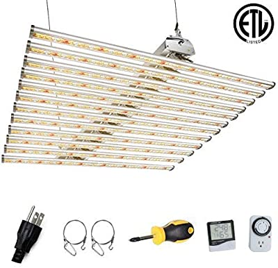 Dommia ETL LED Grow Light for Indoor Plants DM-6000, Full Spectrum Actual Power 650W, 40x40 Inches Plant Growing Light Fixture, White Lights Grow Lamp for Hydroponic, Greenhouse, Grow Tent, Veg&Flower