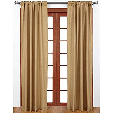 Burlap Natural Cotton Window Panels (Set of 2) 84x40 EA