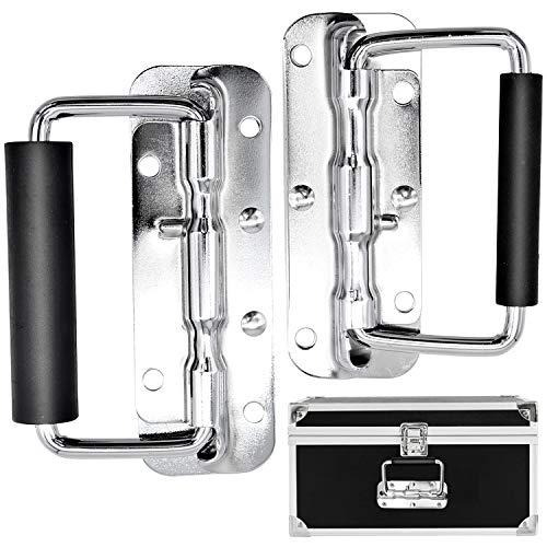 cassetta attrezzi acciaio Cisolen 2 pezzi Maniglie Pieghevoli in Acciaio Inossidabile Maniglia Pieghevole a Scatola per Cassetta Degli Attrezzi