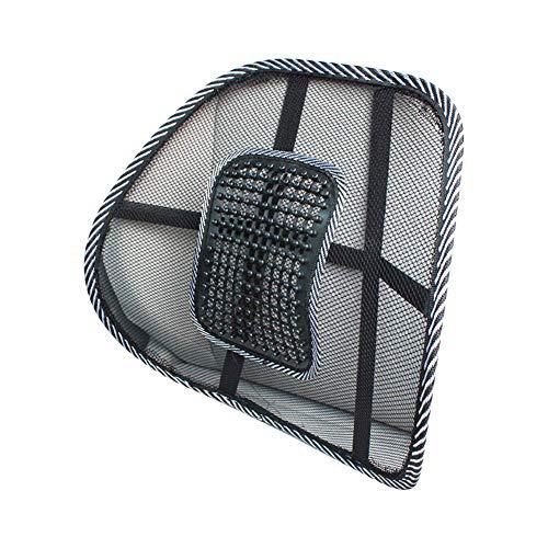 SMAMS ® Almohada de Lumbar de Apoyo Trasero de la Cintura para Sillas de Cojin de Asiento Almohada Corrector de Postura Negro (Pequeño)