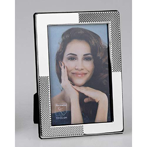 formano Bilderrahmen, Fotorahmen MODERN DOTS für 10x15cm Silber Metall