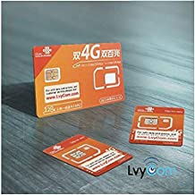 China Data SIM Card 80GB of 4G LTE Data Valid for 30days (3-in-1)