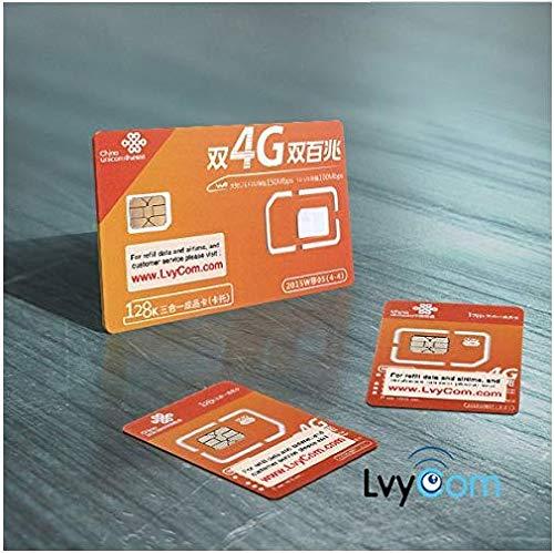 Chinesische SIM Karte: 1 GB 4G LTE Daten + 50 Minuten Ortsgespräche oder 100 SMS. China lokale Nummer, Sie erhalten einen kostenlosen SMS-Bestätigungscode aus China