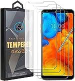 Ycloud 4 Pack Verre Trempé pour LG Q8 (2018), HD Transparent Screen Protector [Anti-Rayures]...