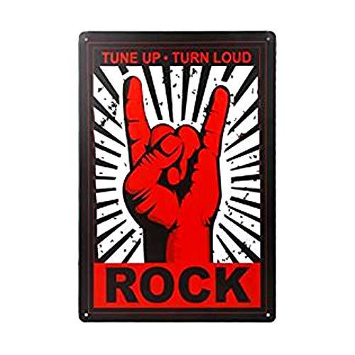 Plaque Métal Vintage Plaque Métallique (Motif Rock) 20 * 30cm