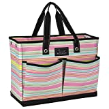 SCOUT BJ Bag, Large Multi Pocket Utility Tote for Beach and Pool, Reinforced Bottom, Water Resistant, Zips Closed, Sol Surfer