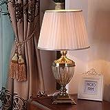 HYY-YY Lámparas de Mesa, Fino y Elegante lámpara de Mesa, Creativo Retro de Estar Lámparas de Habitaciones, Dormitorio lámpara de cabecera, lámpara de Cristal, Trabajo Infantil Lectura Decorativo
