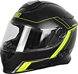 Origine Helmets 204271729100105 Delta Motion Matt Casco Apribile con Bluetooth Integrato, Lime, L